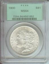 1900 ( 1900-P ) MORGAN SILVER DOLLAR S$1 PCGS MS64 MS-64 OLD GREEN HOLDER OGH
