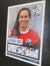 67711 Nadine Böni FC Luzern Damen Fußball original signierte Autogrammkarte