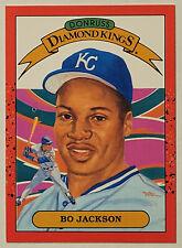 1990 Donruss #1 BO JACKSON Diamond King - Kansas City Royals - NM/Mint