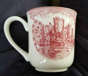 "Vintage Johnson Brothers Porcelain Coffee Mug ""Ragland Castle In 1792"""