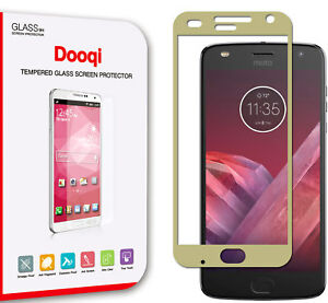 2X Dooqi Full Coverage Tempered Glass Screen Protector For Motorola Moto Z2 Play