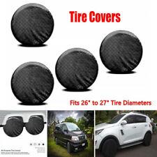 "4PCS Car Wheel Tire Covers For RV Trailer Camper Caravan Truck 26"" to 27'' Tire"
