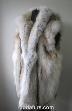 Men's Sz XL Brand New Coyote Fur Vest with Detachable Hood