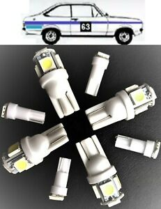 FORD MK2 ESCORT DASH INSTRUMENTS LED LIGHT LAMPS BULBS SET