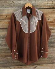 Vintage Rockmount Ranch Wear Western Pearl Snap Shirt Size 16-35