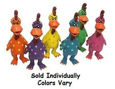 """Globkens Funny Rubber Chicken Dog Toys Latex Colorful Squeaker 11.5"""" Colors Vary"""