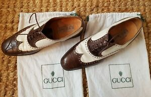 Gucci Mens brogues brown and white UK 7  US 8   EU 41  Vintage