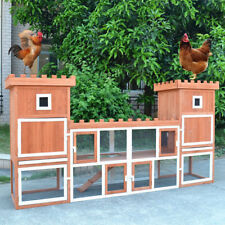 """Large Fashion 102.8"""" Rabbit Hutch Poultry Cage Chicken Coop  w Two Storage Area"""