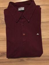 j lindeberg Polo Shirt Short Sleeve Burgundy