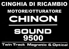 ★CINGHIA DI RICAMBIO MOTORE 1 x PROIETTORE SUPER 8 mm CHINON SOUND 9500 ★