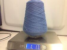 100% wool yarn On cone French Blue