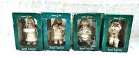 Grandeur Noel Porcelain Angel Figurines Lot Of 4 In Original Box Vintage