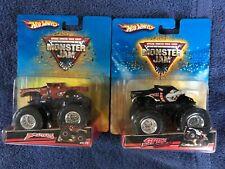 Lot of 2 Hot Wheels Monster Jam Truck Spike 2008 & Brutus 2007