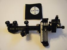 "4"" DAVIS TARGET SIGHT- Double knob-5.75 -black/black knobs-scope .019 green."