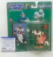 COREY DILLON Signed Starting Lineup FIGURE Cincinnati BENGALS Patriots PSA/DNA