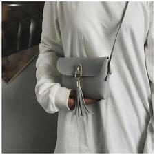 Fashion Leather Handbag Small Messenger Crossbody Tassel Shoulder Bag Purse Tote