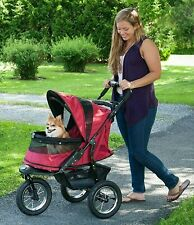 New! Pet Gear Pet Stroller 3-Wheel Jogger No-Zip Cat Carrier Storage