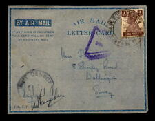 1943 British Indian Forces Cover Calcutta to Uk / Front Only - L5465