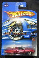 2005  Hot Wheels  1963 Thunderbird  Muscle Mania Series  Card #102   HW-19