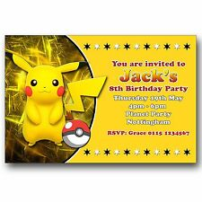 buy pokémon cards stationery for invitations ebay