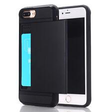 Case Shockproof Wallet Credit Card Holder Cover For iPhone 5 5S SE 6 6S 7 Plus