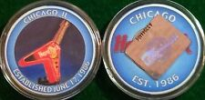 Hard Rock Cafe ONLINE 2002 CHICAGO 6/17/86 CASINO CHIP Mint Plastic Case Poker