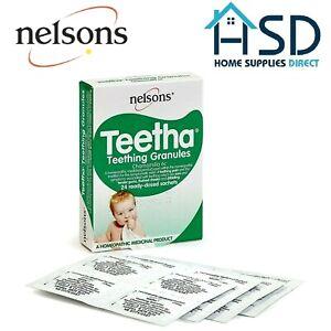 Nelsons Bébé Teetha Dentition Granules 24 Prêt Ayant Reçu une Dose Sachets