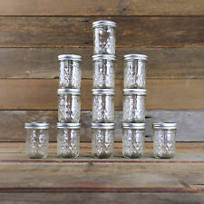 12 x Half Pint 8oz  Quilted Jars with Lids Genuine Ball Mason BPA  FREE!