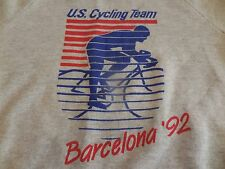 Vtg. U.S. Cycling Team 1992 Summer Olympic Barcelona Large Sweatshirt Usa Made