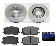 Front Ceramic Brake Pad Set & Rotor Kit for 2000-2004 Mitsubishi Diamante