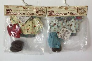 2-Vanderbear Wear Take A Hike Outfits: A Walk On The Wild Side Hoppy & Muffy NEW