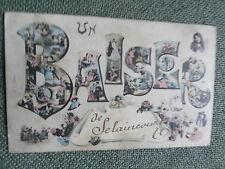 cpa 54 Un Baiser de SELAINCOURT près Dolcourt Crépey Toul ..écrite en 1908