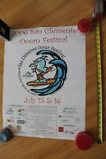 San Clemente Ocean Festival 30th Annual Dolphin 2006 Surfing 18x24in. Poster