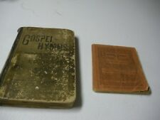 2 Books Gospel Hymns Consolidated 1884 & 1888 One pocket and one regular size