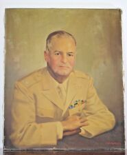 Vintage c1940 Oil Painting Jumbo Portrait by C G Pereira Army Colonel  WWII
