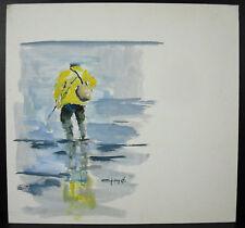 Jean-claude Quinette (1956) Pècheur Stiel- Chausey Normandie Bretagne Shrimp