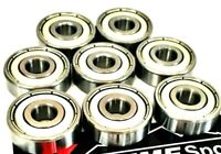 8 Pack 608zz STAINLESS STEEL RUSTPROOF BEARINGS SKATEBOARD SCOOTER ROLLER SKATES