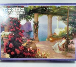 FX Schmid 2000 Piece Jigsaw  Puzzle ON THE TERRACE AT CAPRI #98527 USA