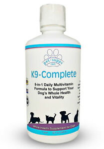 Whole Health Liquid Multivitamin for Dogs - Probiotic and Digestive Support