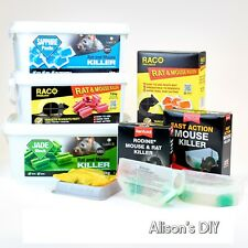 Mouse & Rat Killer Fast Poison Trap Bait Tray Box Rentokil Raco Paste Jade Block
