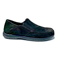 Crocs Santa Cruz black suede leather slip on loathers mens size 11 EUR 45-46