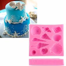 Silicone 3D Starfish & Sea Shells Mould Fondant Cake Chocolate Mold Decor Tool