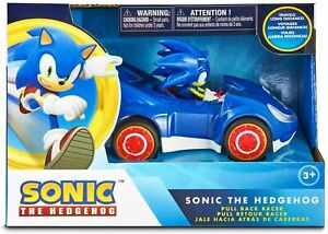 """Sonic the Hedgehog Toys SEGA Racing Pull Back Speed Racer 6"""" Toy Car"""
