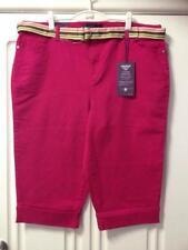 Cotton Plus Size Classic Capri, Cropped Jeans for Women