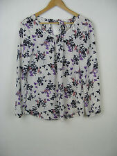 George Blouse Scoop Neck Floral Tops & Shirts for Women