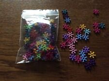 Acrylic flat daisy    spacer beads approx 10mm  x 500