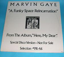 "Marvin Gaye-un espacio Funky reencarnación 12"" Motown PROMO PR-46 1979 Muy Raro"