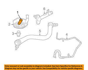 VW VOLKSWAGEN OEM 09-10 Routan 3.8L-V6-Engine Oil Cooler 7B0117021B