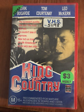 KING AND COUNTRY DIRK BOGARDE TOM COURTENAY LEO MCKERN RARE PAL VHS VIDEO