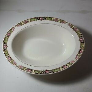 Edwin M. Knowles China Co. VINTAGE Semi Vitreous Floral Serving Saucer Platter